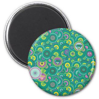 Modelo del verde del círculo de Supergirl Imán Redondo 5 Cm