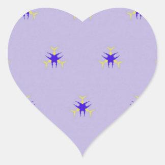 Modelo delicado de la explosión de la púrpura de pegatina en forma de corazón