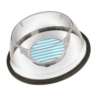 Modelo diagonal azul y blanco de las rayas cuenco para mascotas