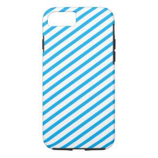 Modelo diagonal del azul de la raya funda iPhone 7