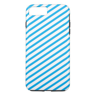 Modelo diagonal del azul de la raya funda iPhone 7 plus