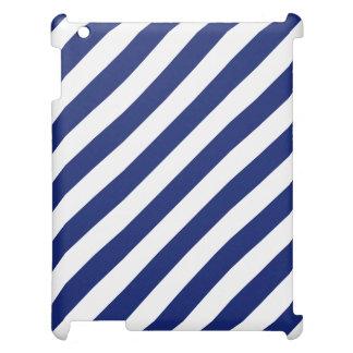 Modelo diagonal del azul marino y blanco de las