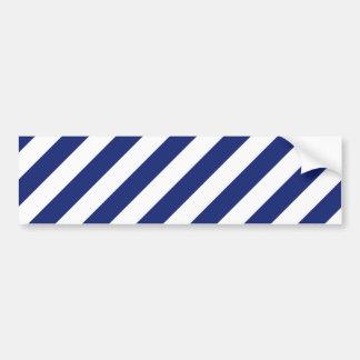 Modelo diagonal del azul marino y blanco de las pegatina para coche