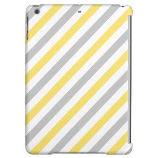 Modelo diagonal gris y amarillo de las rayas