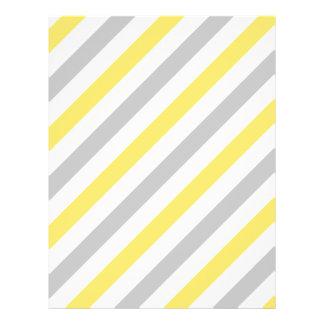 Modelo diagonal gris y amarillo de las rayas flyer