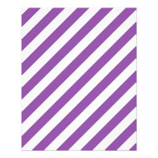 Modelo diagonal púrpura y blanco de las rayas flyer