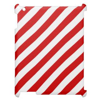 Modelo diagonal rojo y blanco de las rayas