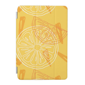 Modelo dibujado limones amarillos brillantes del cover de iPad mini