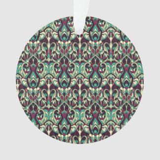 Modelo dibujado mano abstracta. Colores verdes Adorno