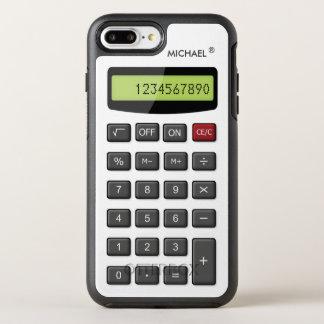 Modelo divertido de la calculadora con el texto funda OtterBox symmetry para iPhone 8 plus/7 plus