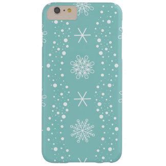 Modelo divertido de los copos de nieve de la funda barely there iPhone 6 plus