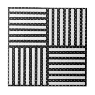 Azulejos rayas blancas negras for Azulejo a cuadros blanco y negro barato