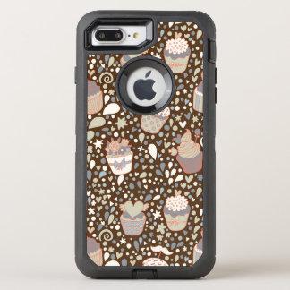 Modelo dulce hecho de magdalenas sabrosas funda OtterBox defender para iPhone 8 plus/7 plus