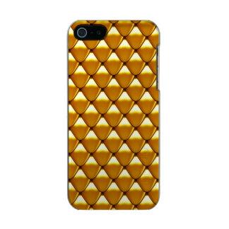 Modelo elegante de la escala del oro carcasa de iphone 5 incipio feather shine