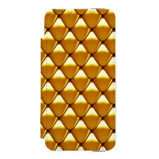 Modelo elegante de la escala del oro funda cartera para iPhone 5 watson