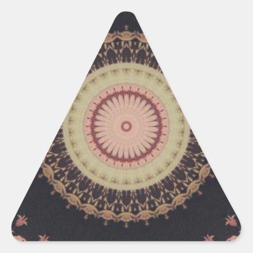 Modelo elegante de la lona del caleidoscopio pegatinas trianguladas