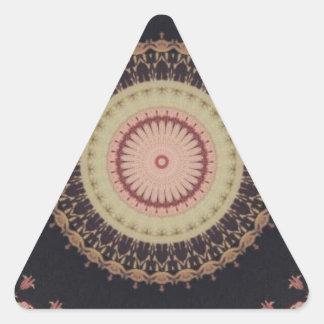 Modelo elegante de la lona del caleidoscopio pegatina triangular