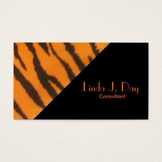 Modelo elegante del ángulo del tigre tarjeta de negocios