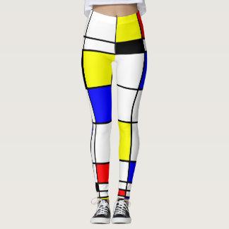 Modelo elegante del arte colorido de Mondrian Leggings