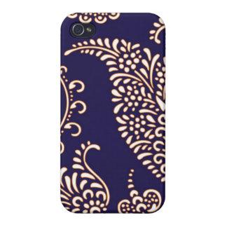 Modelo elegante floral femenino de Paisley del iPhone 4 Protector