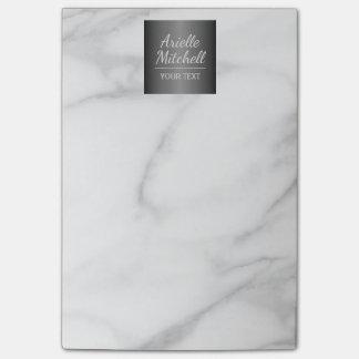 Modelo elegante profesional del mármol del notas post-it®