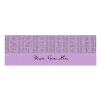 Modelo elegante púrpura en colores pastel tarjetas de visita mini