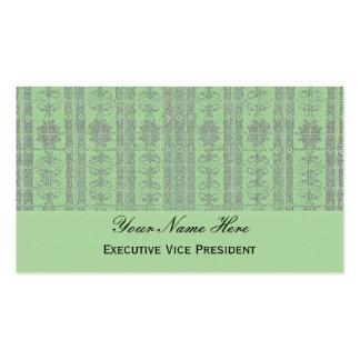 Modelo elegante verde en colores pastel tarjetas de visita