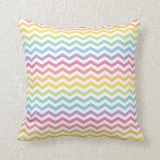 Modelo en colores pastel de Chevron del arco iris Cojín Decorativo