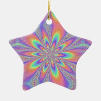 Modelo en colores pastel de las cadenas adorno navideño de cerámica en forma de estrella