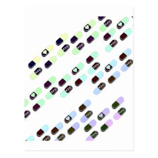 Modelo en colores pastel de las píldoras del arco postal