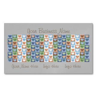 Modelo en colores pastel de los corazones en tarjetas de visita magnéticas (paquete de 25)