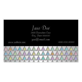 Modelo en colores pastel de los triángulos tarjetas de visita