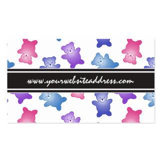 Modelo en colores pastel del oso de peluche tarjetas de visita