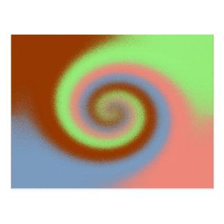 Modelo en colores pastel del remolino tarjetas postales