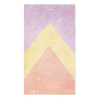 Modelo en colores pastel del triángulo tarjetas de visita