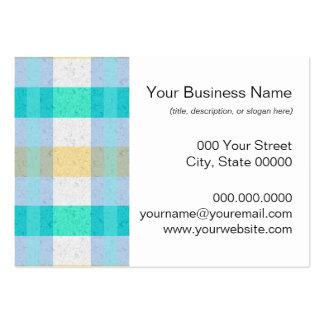 Modelo en colores pastel lindo de la tela escocesa plantillas de tarjetas personales