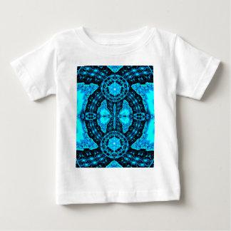 Modelo enrrollado azul de neón moderno camiseta de bebé