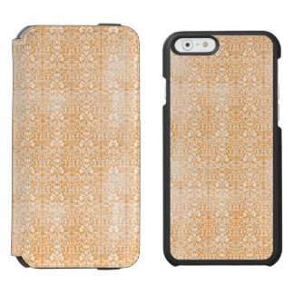 Modelo envejecido damasco anaranjado pálido funda cartera para iPhone 6 watson