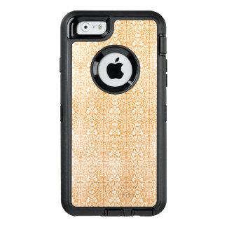 Modelo envejecido damasco anaranjado pálido funda OtterBox defender para iPhone 6