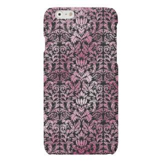 Modelo envejecido damasco floral rosado de la