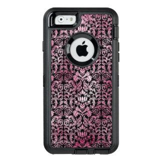 Modelo envejecido damasco floral rosado de la funda OtterBox defender para iPhone 6
