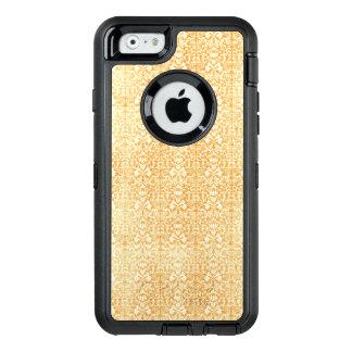 Modelo envejecido del damasco del oro amarillo funda OtterBox defender para iPhone 6