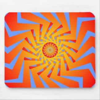 Modelo espiral psicodélico: Arte del vector: Mouse Tapete De Ratón