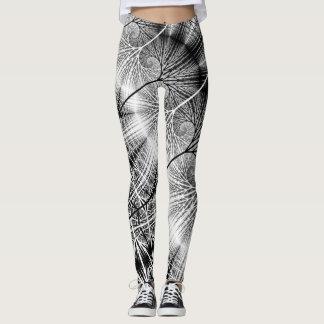 Modelo espiral transparente místico del bosque del leggings