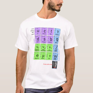 ¡Modelo estándar de partículas elementales con Camiseta