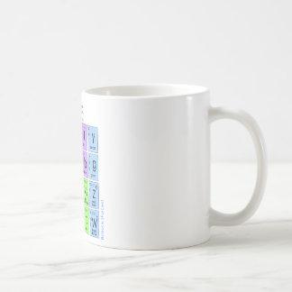 Modelo estándar de partículas elementales taza de café