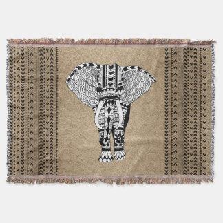 Modelo étnico del elefante tribal manta