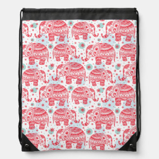 Modelo étnico rojo del elefante mochilas