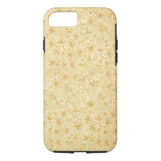 Modelo femenino del pergamino floral antiguo del funda iPhone 7