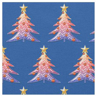 Modelo festivo colorido lindo de los árboles de tela